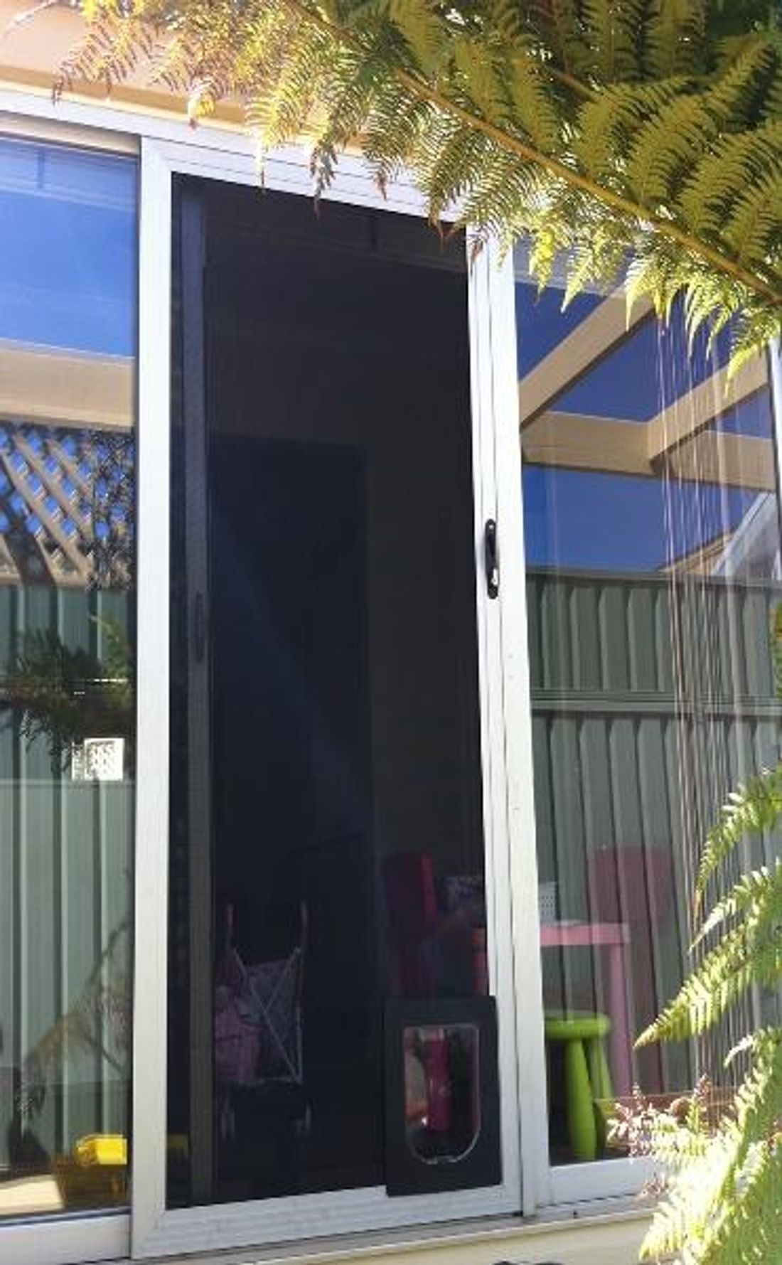 How To Build A Doggie Door For A Sliding Door Hipages Com Au