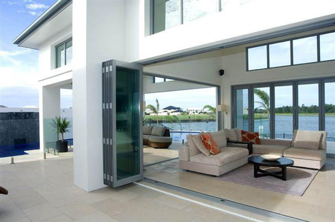 The best bifold doors will glide easily even if four or five doors are hinged together. & How Much Do Bifold Doors Cost? - hipages.com.au