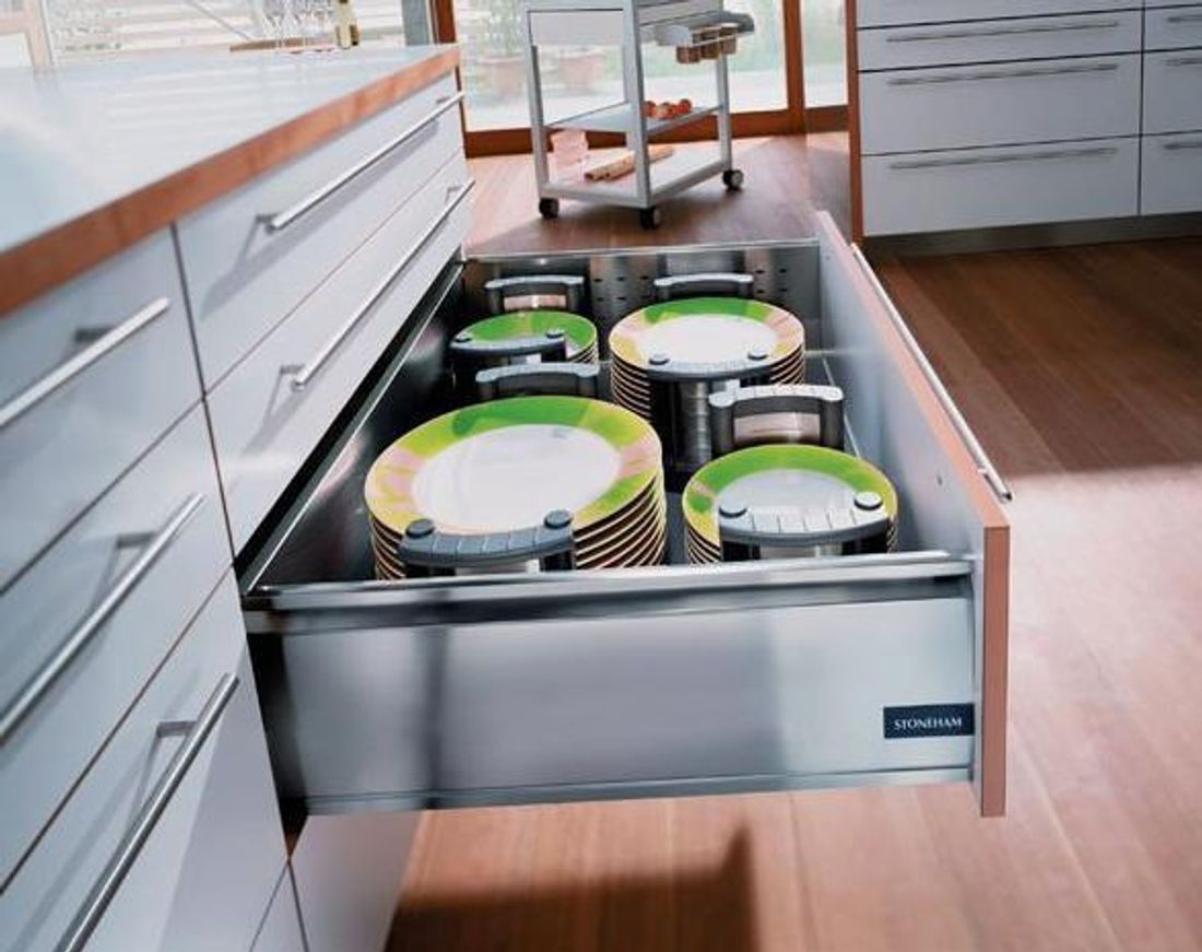 ... Add Some Pot Drawers To Make It Easier To Access Your Most Used Pots  And Pans. In Fact, Thereu0027s A Drawer For Almost Everything, Including Your  Plates.