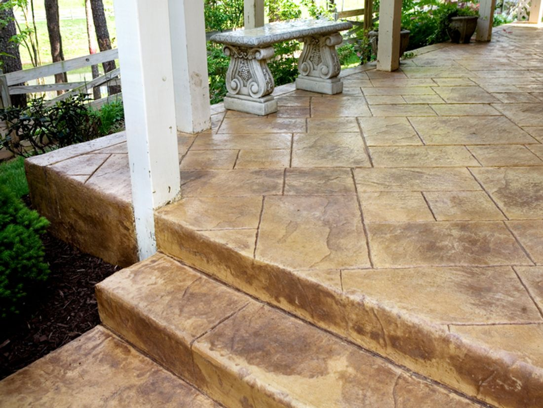 outdoor in pinterest stamped plan ideas decoration decor cost patio on concrete about poured