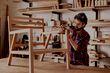 Handyman fixing furniture