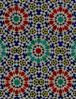 Mixture of bright colours in Moroccan tiles