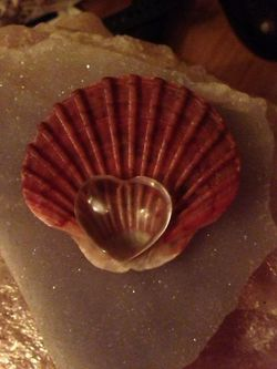 crystal heart shell healing wellbeing