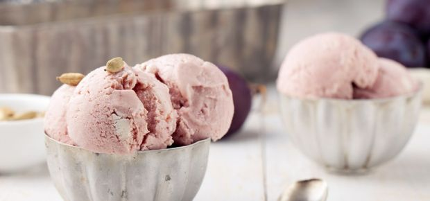 Healthy Balsamic Plum Ice Cream Recipe